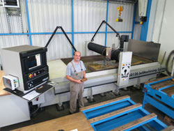 CNC water-jet cutting
